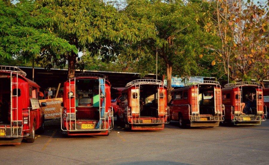 Taxis rojos de Chiang Mai