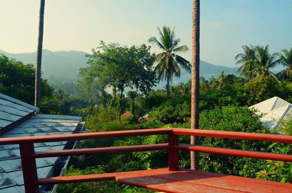El mar y la selva desde nuestra azotea