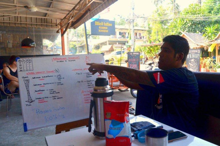 Nuestro instructor de submarinismo en Tailandia