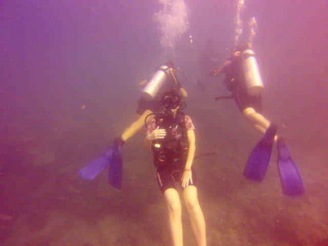 Posado submarino en Tailandia