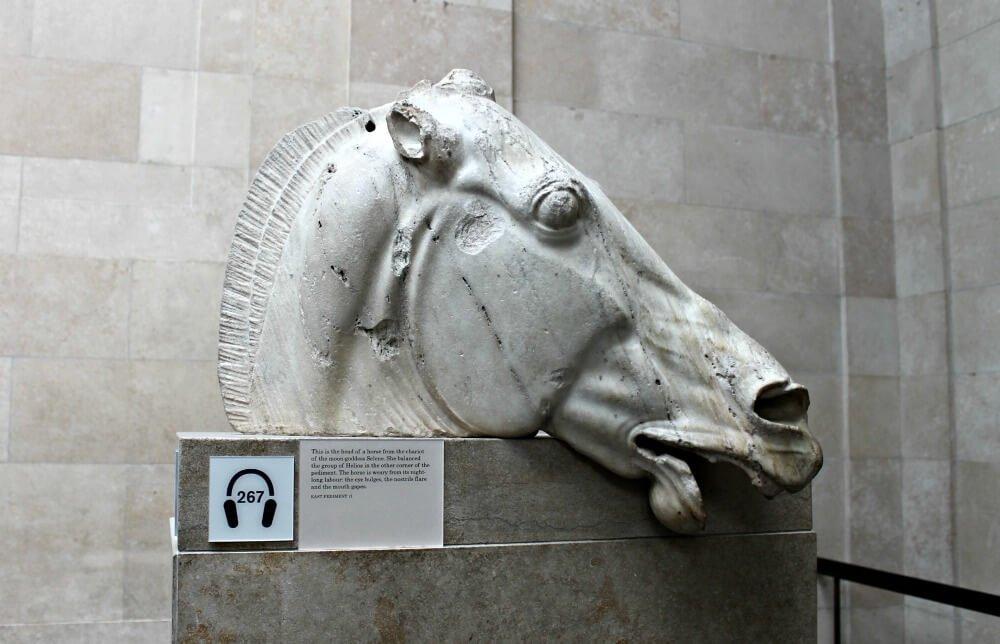 Cabeza de caballo del Partenón de Atenas - Museo Británico de Londres