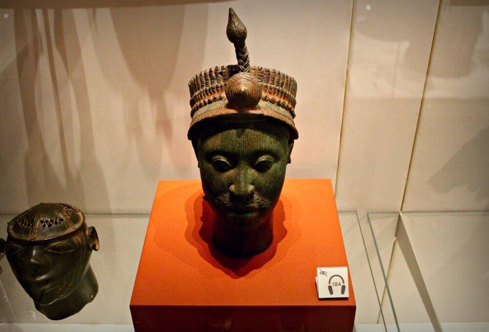 Cabeza en latón del Rey Ife de Nigeria