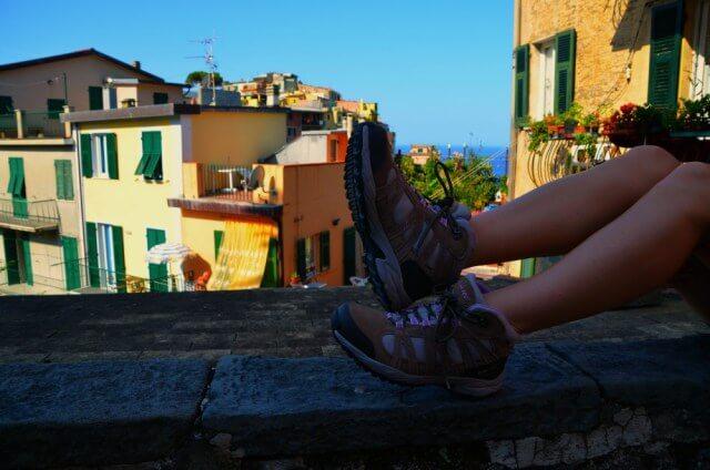 Calzado cómodo para mi ruta por Cinque Terre