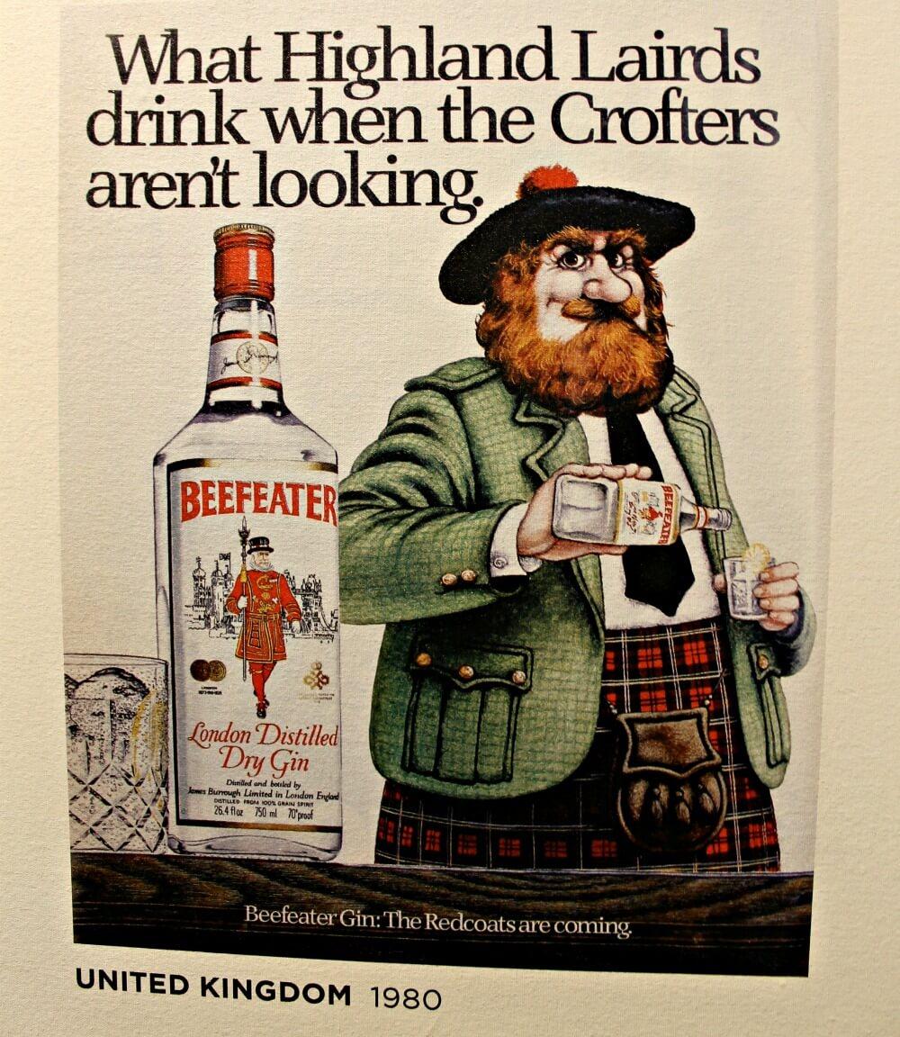Los escoceses beben Beefeater London - Destilería en Londres