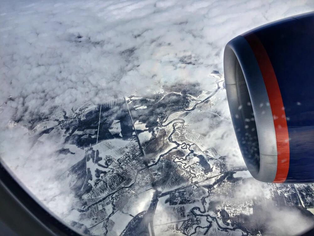 Rusia nevada desde el cielo - Opiniones de Aeroflot