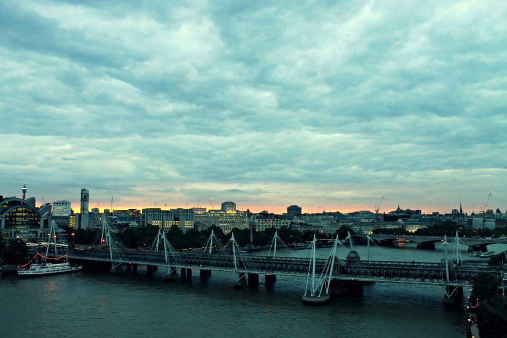 Ver atardecer desde la noria de Londres