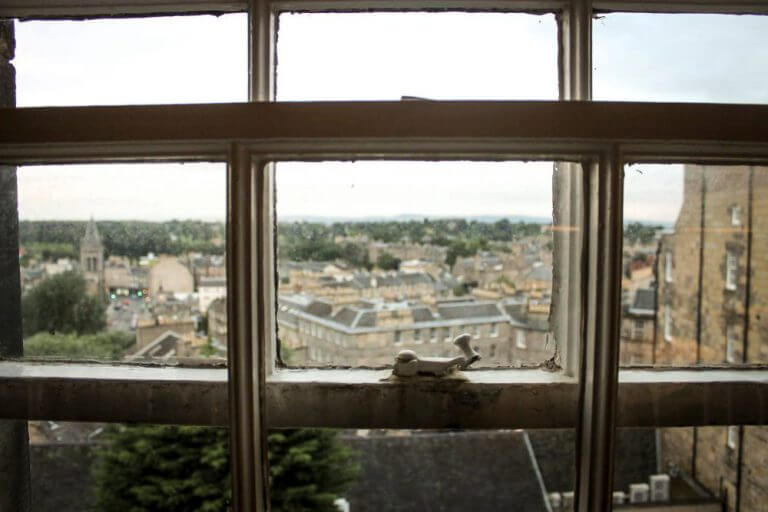 Vistas a Edimburgo desde nuestra habitación - Dónde alojarse en Edimburgo