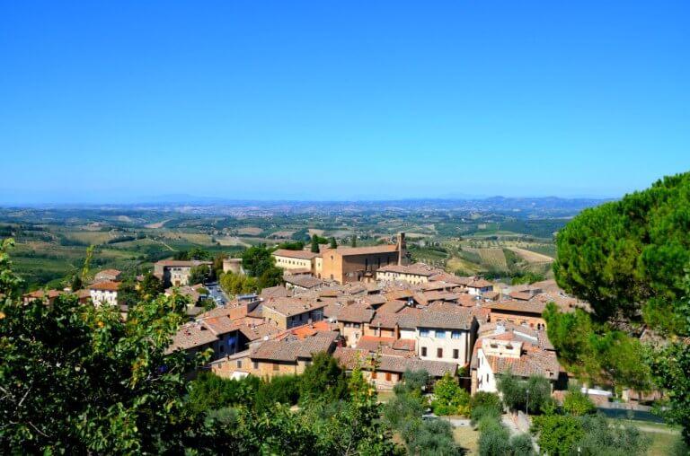 Vistas de San Gimignano desde Montestaffoli