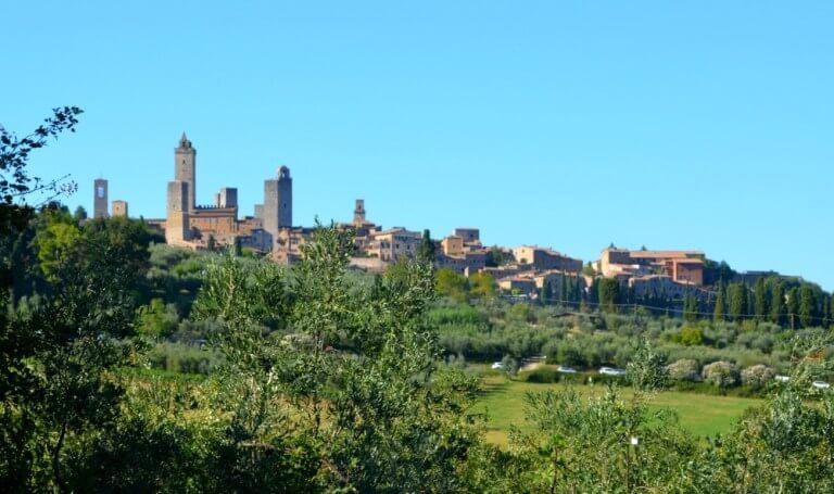 Vistas de San Gimignano desde Santa Lucia