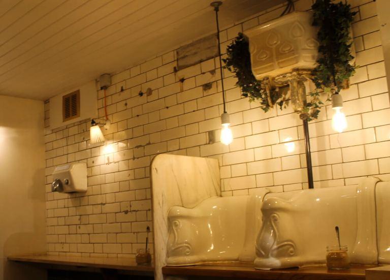 Cisternas de un café original de Londres
