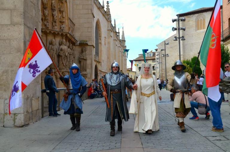El Cid y doña Jimena en la Catedral de Burgos