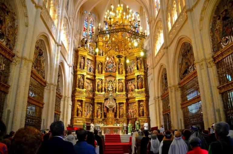 Misa en la Catedral de Burgos