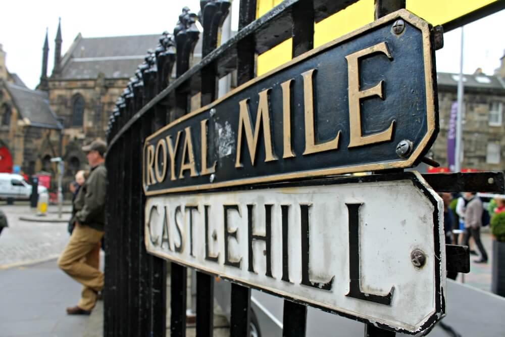 Paseando por la Royal Mile de Edimburgo