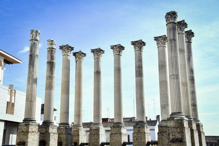 Columnas del Teatro Romano de Córdoba