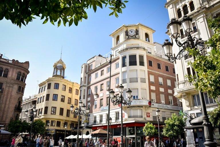 El reloj de las Tendillas en Córdoba
