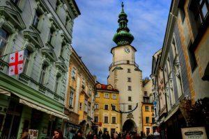 El coqueto centro de Bratislava
