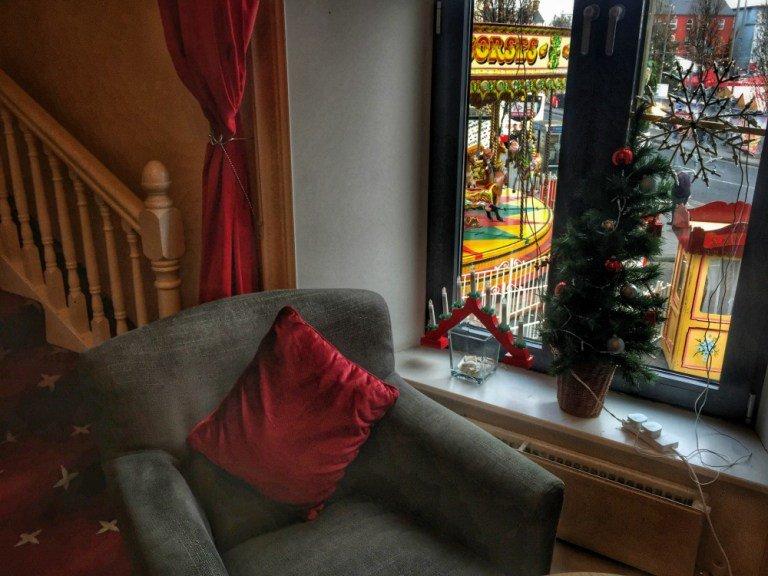 Vistas del mercado de navidad de Galway