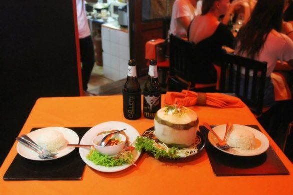 Dóonde comer en Koh Tao - Nuestro menú en The Gallery