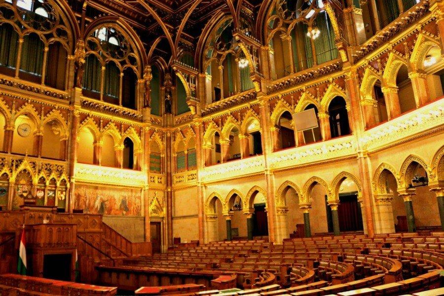 Cámara Alta del Parlamento de Budapest