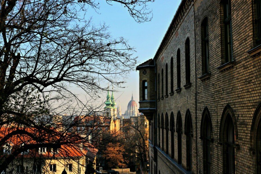 Cúpula del Parlamento de Budapest desde Buda