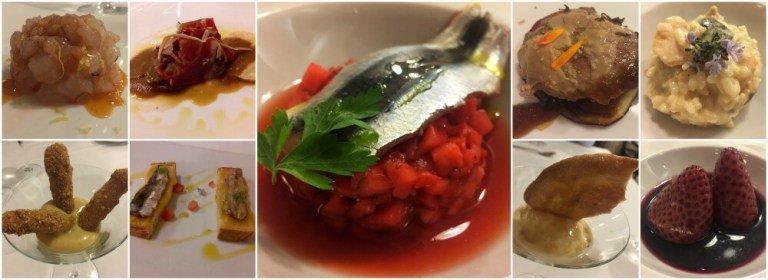 Menú degustación del restaurante Huerto Nun