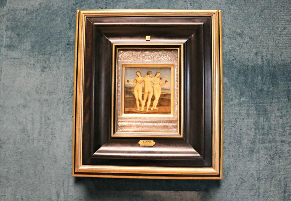 Las tres gracias de Raphael en el Castillo de Chantilly