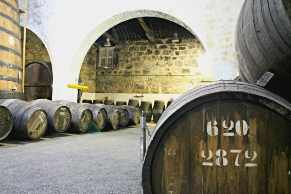Barriles de las bodegas de Oporto Croft