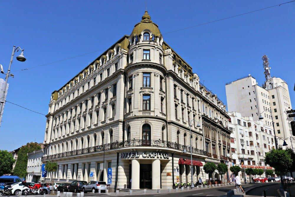 Edificio del Hotel Capitol - Dónde dormir en Bucarest