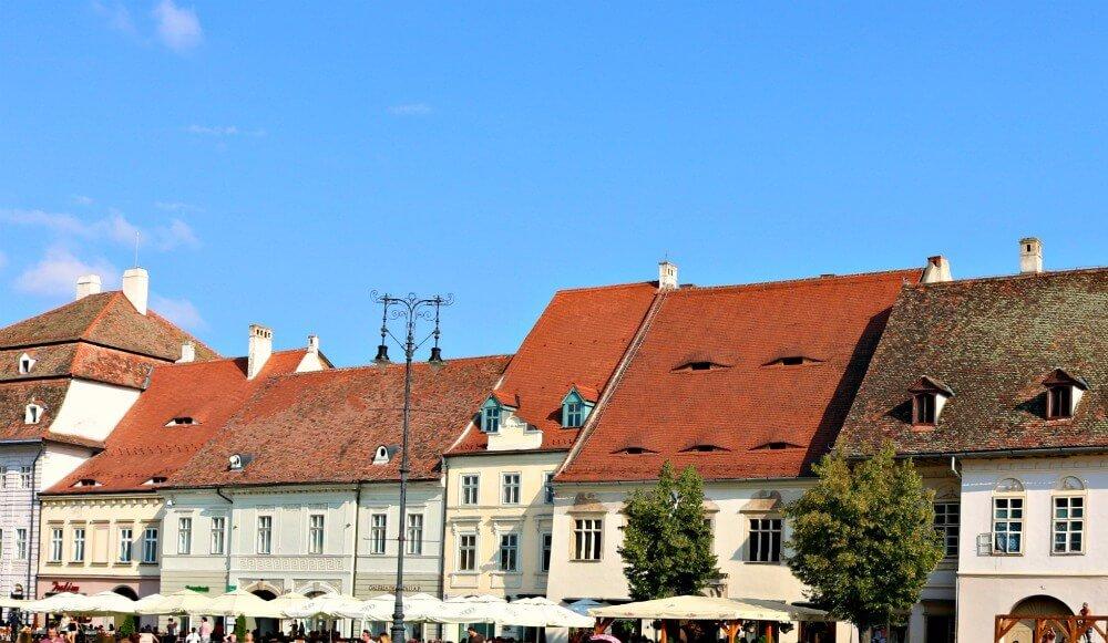Casas con ojos de Sibiu en Rumanía