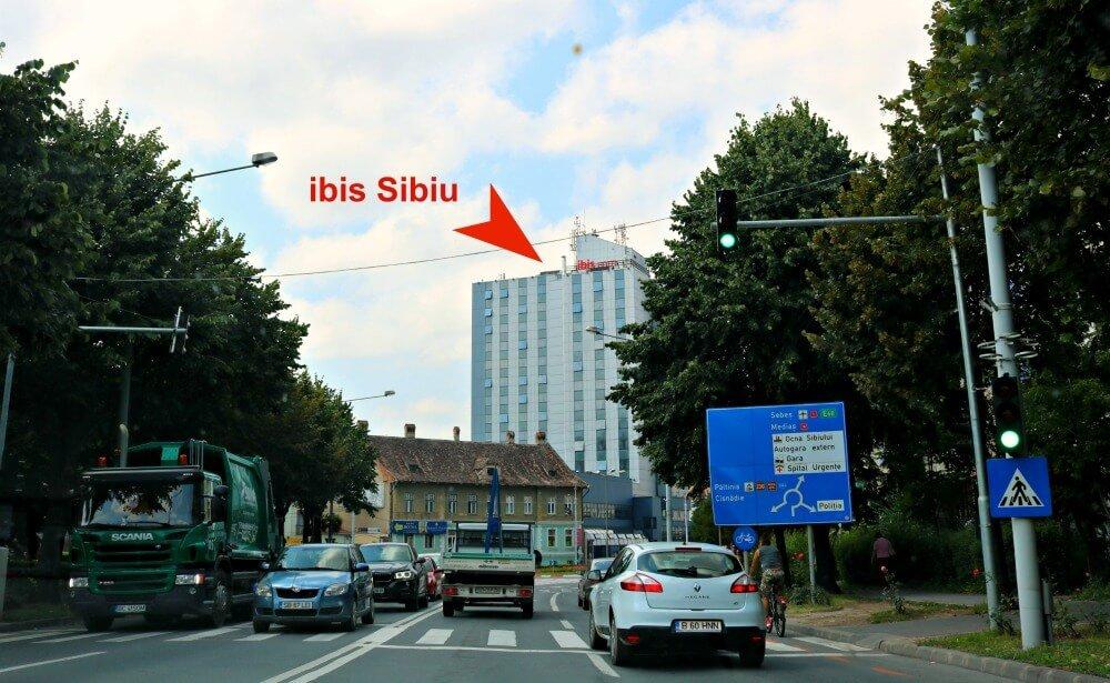 Ubicación del hotel ibis Sibiu, dormir en Sibiu