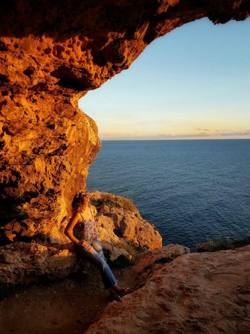 Atardecer en los acantilados de Formentera