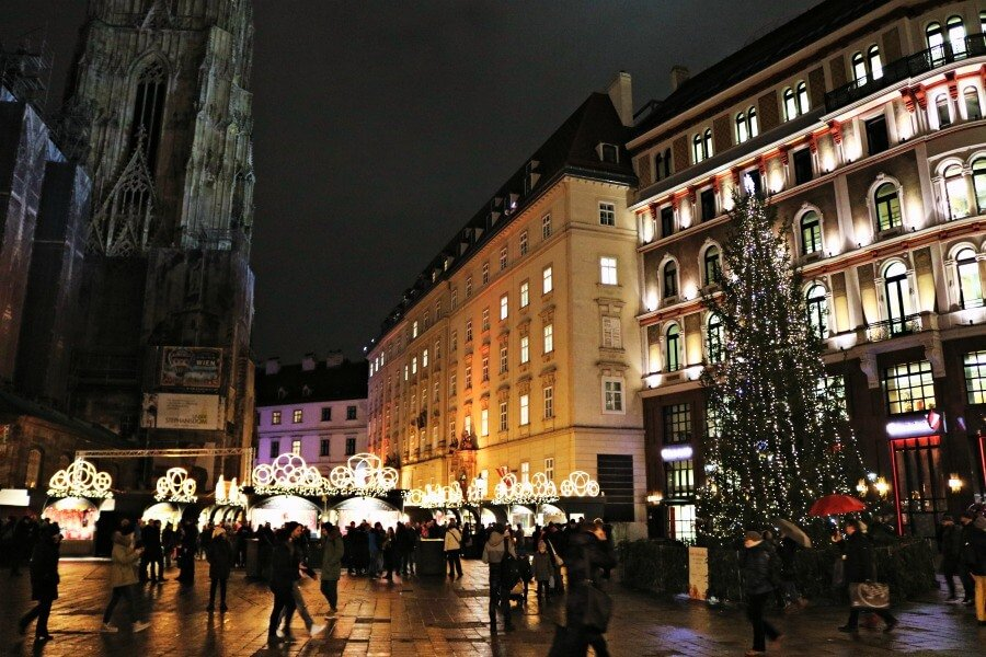 La catedral de Viena en navidad