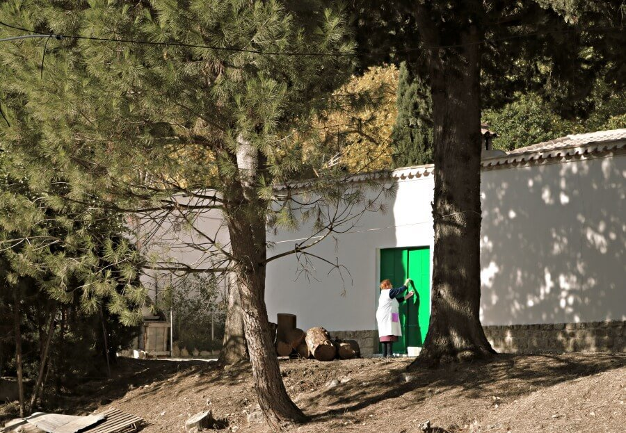 La madera es esencial en la aldea de El Vadillo