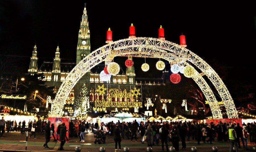 Mercados navideños de Viena, el mercadillo del Ayuntamiento