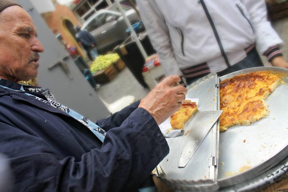 Comida callejera en Tánger