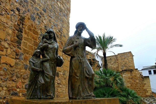 Familia musulmana huyendo de Antequera a Granada