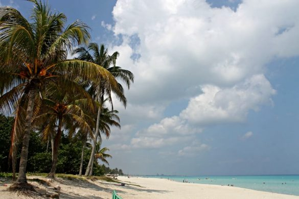 Playa de Varadero en el pueblo