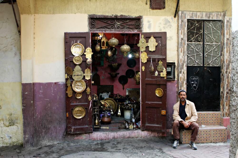 Vendedores de la medina
