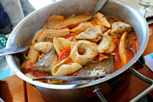Caldeirada de peixe - Platos tipicos del centro de Portugal