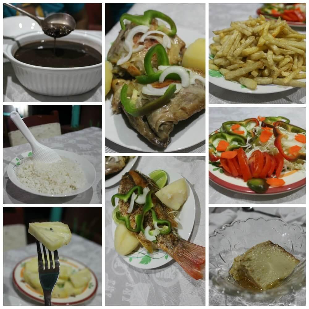 Cena en casa de Ridel & Claribel en Viñales