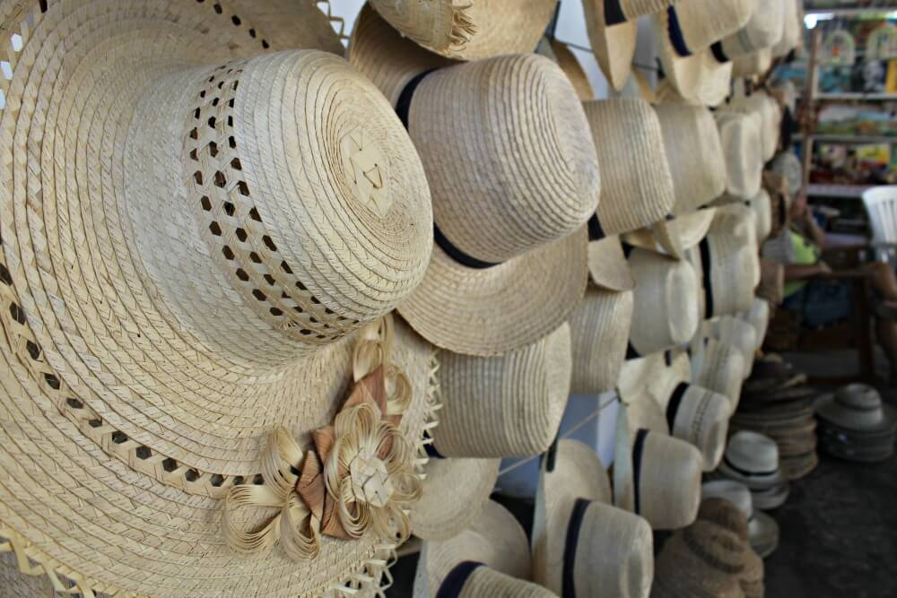 Sombreros de paja en Viñales