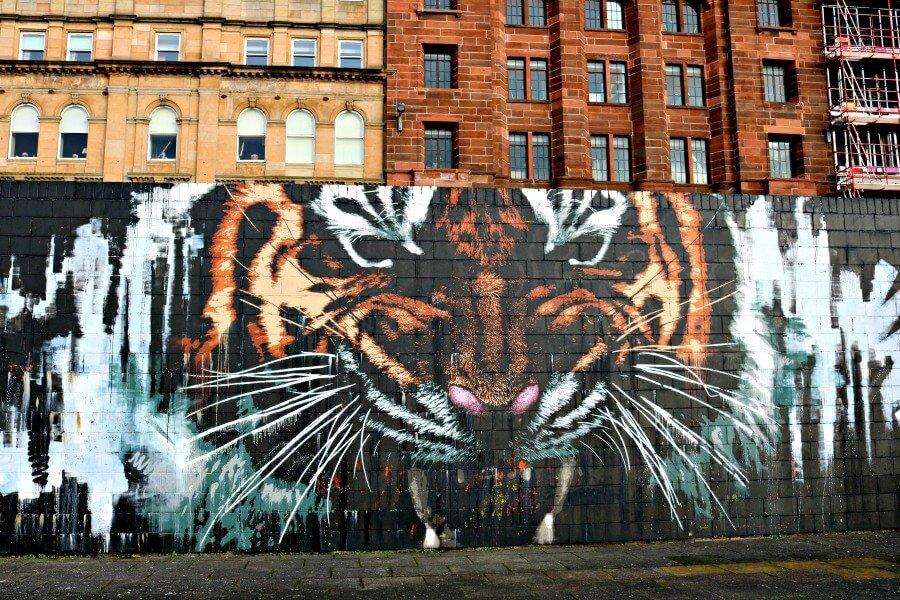 Glasgow's Tiger - Ruta por los murales de Glasgow