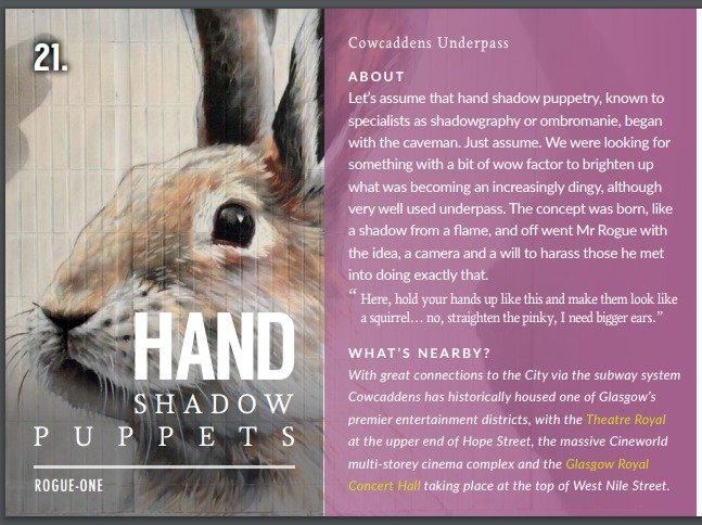 Hand Shadow Puppets - El mejor street art de Glasgow