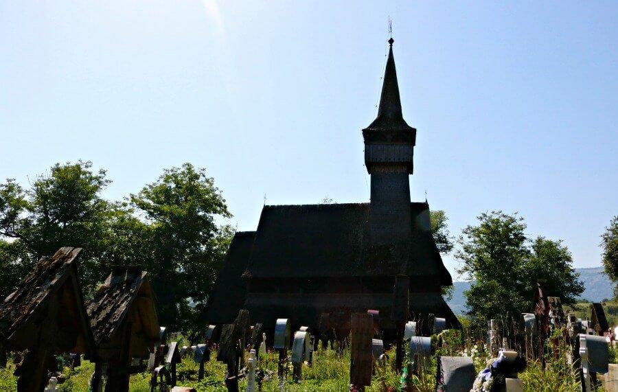 Iglesia de Ieud en Maramures Rumanía