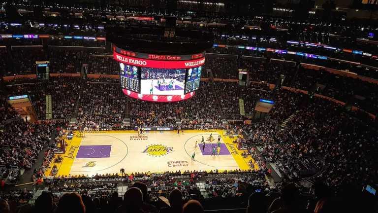 Partido de la NBA en Los Ángeles