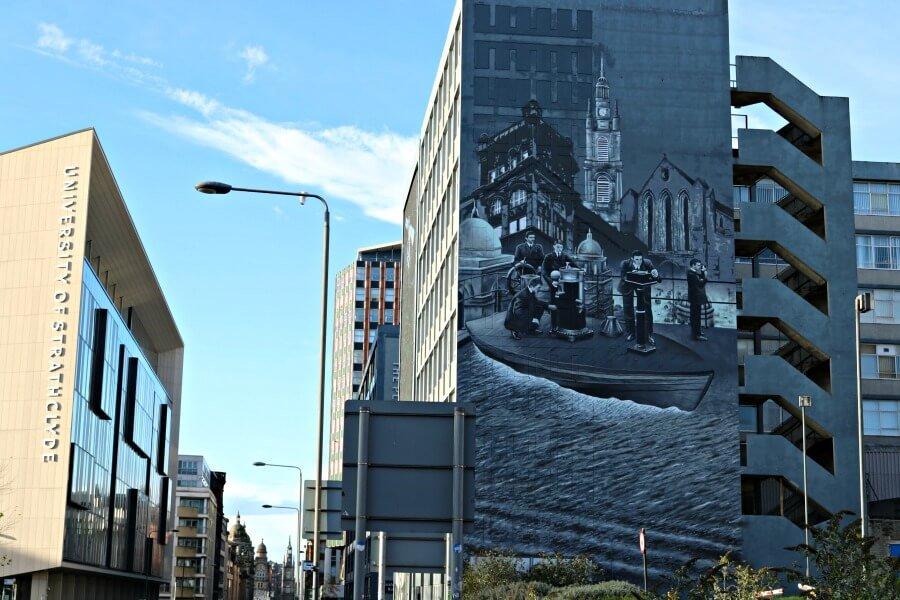 Strathclyde University - Ruta por los murales de Glasgow