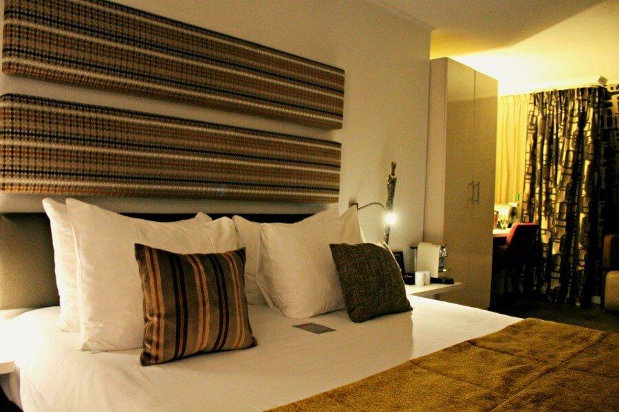 Cama del Hotel Albus de Ámsterdam