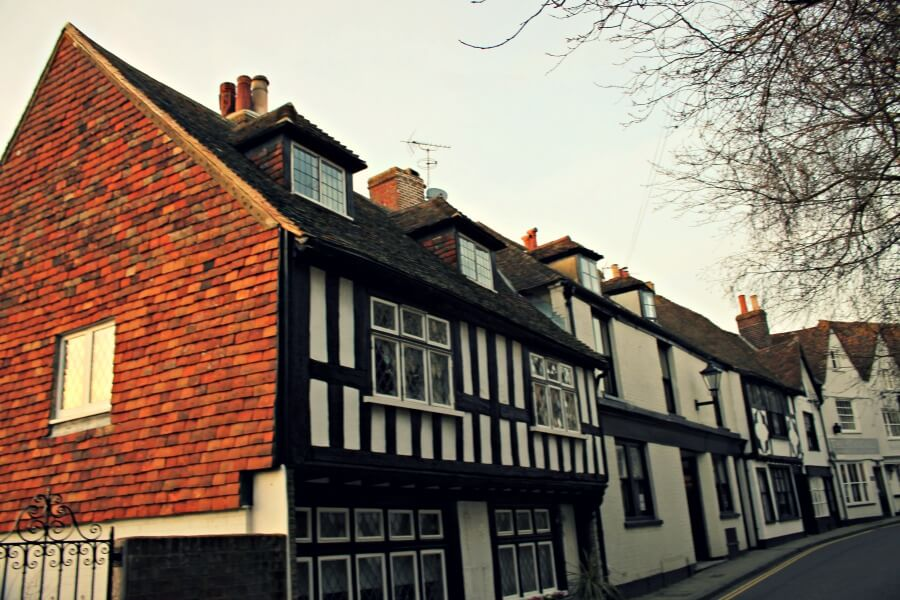 Casas de estilo Tudor en Inglaterra