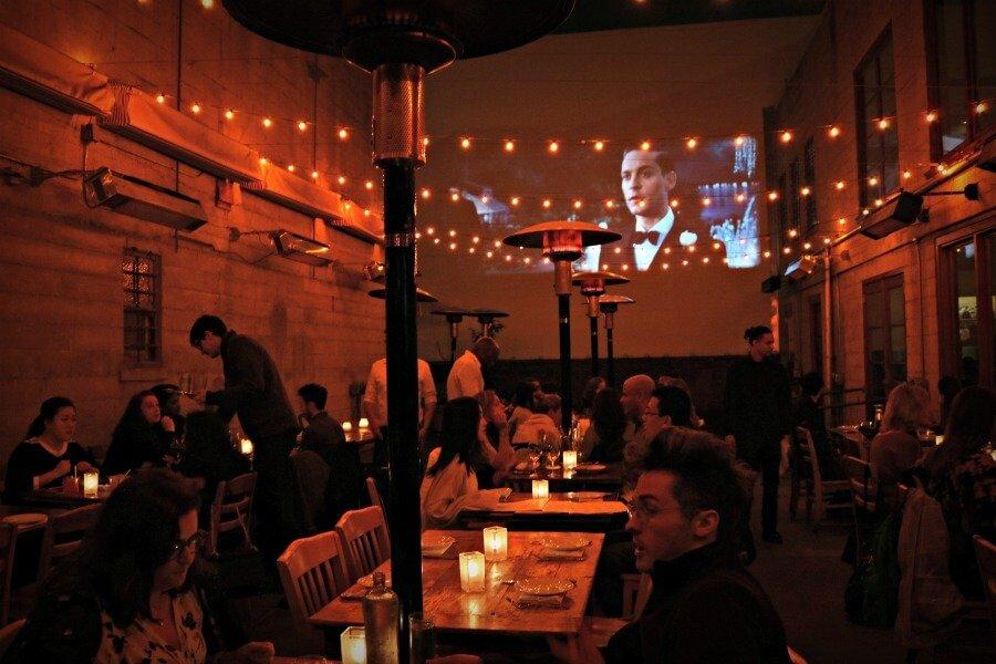 Cena romántica en San Francisco Foreign Cinema