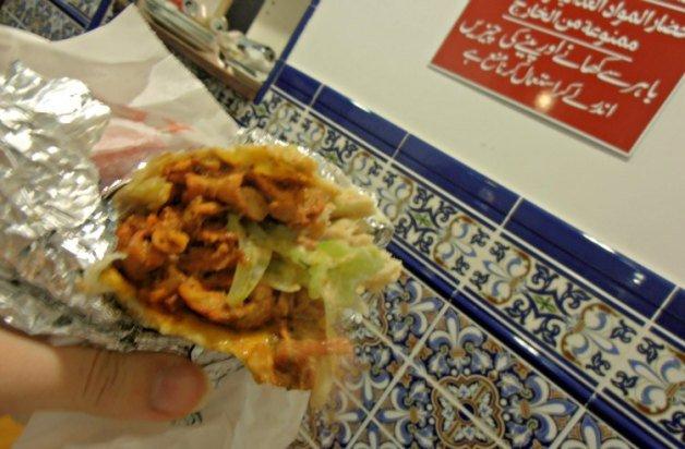 Comer en Barcelona un kebab